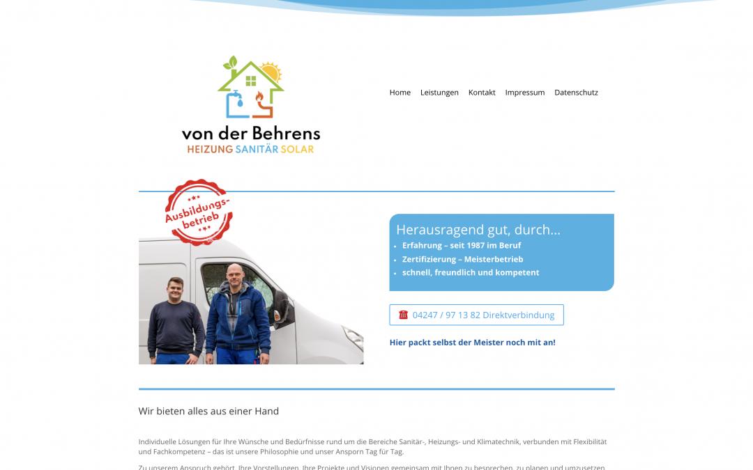 Webdesign für einen Meisterbetrieb